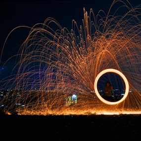 Ring of Fire by Marlon Managi - Abstract Light Painting ( Steel Wool, Fire, Sparks )