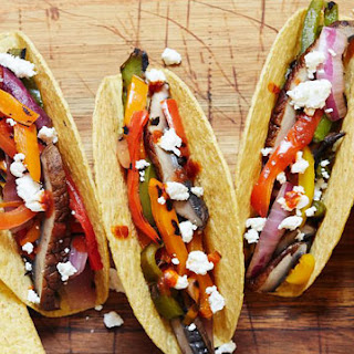Grilled Vegetable and Goat Cheese Tacos
