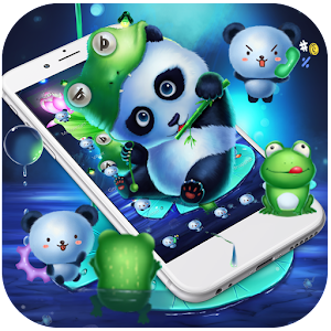Download Cute neon green panda 3D theme For PC Windows and Mac