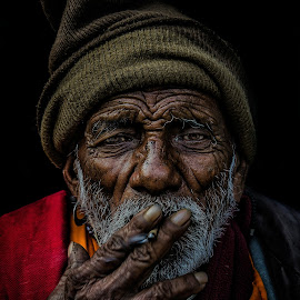 Old man by Sourav Das - People Portraits of Men ( #oldman #portrait #smoke )