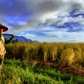 Farmer by Budi Risjadi - Professional People Factory Workers