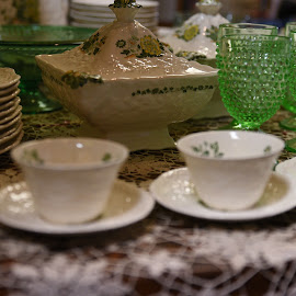 Antique Dinnerware  by Lorraine D.  Heaney - Artistic Objects Antiques
