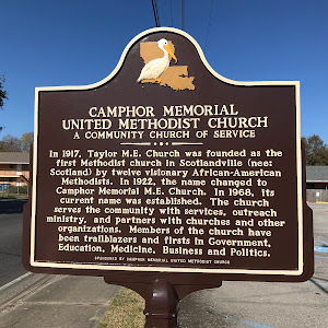 In 1917, Taylor M.E. Church was founded as the first Methodist church in Scotlandville (nee: Scotland) by twelve visionary African-American Methodists. In 1922, the name changed to Camphor Memorial ...
