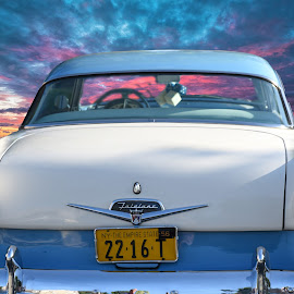 1956 Ford Fairlane  by Lorraine D.  Heaney - Transportation Automobiles