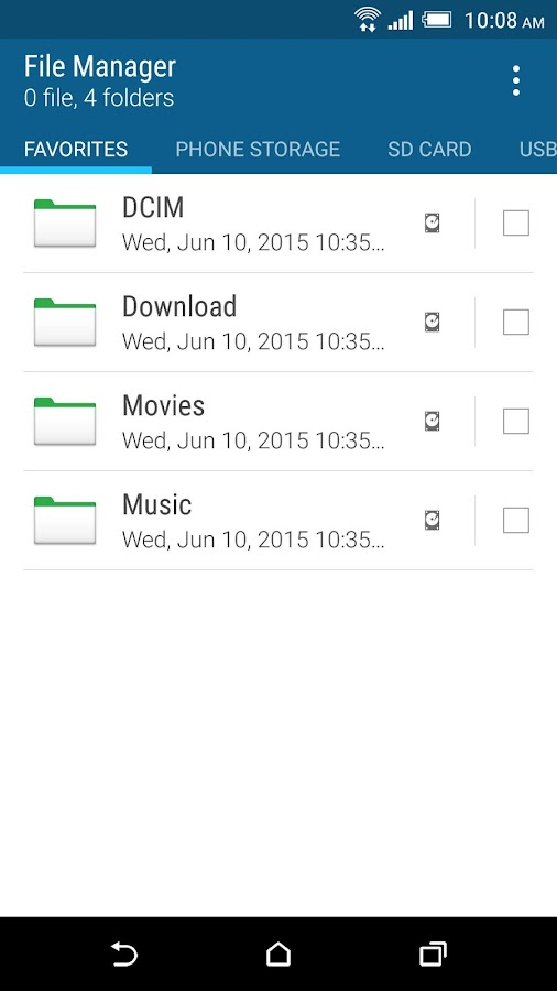 HTC File Manager Screenshot