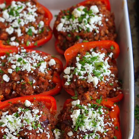 Greek Stuffed Peppers with Feta Cheese