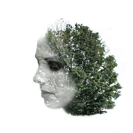 Mother Nature by Jared Simmons - Novices Only Abstract ( double exposure, model, tree, abstract art, artwork )