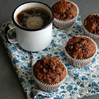 Chocolate, Banana And Coconut Muffins