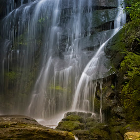7 Falls by Mark Turnau - Nature Up Close Water ( water, nature, time exposure, waterfall, rocks, north carolina )