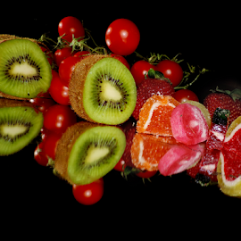 candys,kiwi and tomatoes by LADOCKi Elvira - Food & Drink Fruits & Vegetables ( candys, fruits, vegetables )