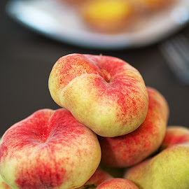 Saturn Peaches by Sam Song - Food & Drink Fruits & Vegetables ( food, fruits )