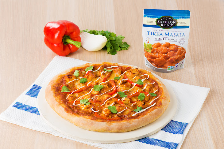 Chicken Tikka Masala Pizza Recipe | Yummly
