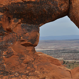 Desert Through the Gap by DJ Cockburn - Nature Up Close Rock & Stone ( arch, utah, arches, sandstone, high desert,  )