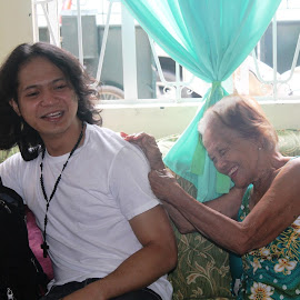 Lola's Pet Grandson by Florante Lamando - People Family ( happy, grandson, smiling, grandmother )