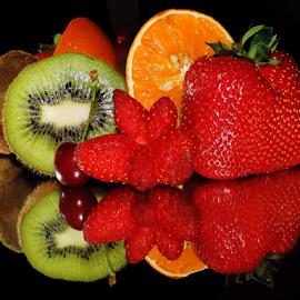 multicolored fruits by LADOCKi Elvira - Food & Drink Fruits & Vegetables ( fruits )