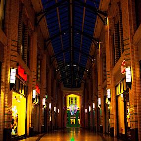 Musis Kwartier Arnhem by Raymon Brugman - City,  Street & Park  Street Scenes ( musis, gelderland, long exposure, kwartier, night, arnhem, musis kwartier, netherlands )