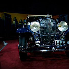 1930's Classic Car by Tom Bale - Transportation Automobiles ( car, blue, gatsby, yeovil, wedding, pretty, classic )