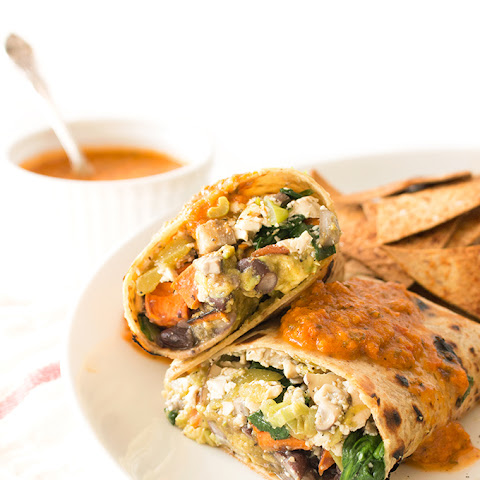Vegan Breakfast Burrito with Sweet Potatoes and Black Beans