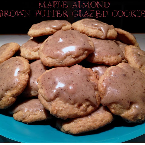 Maple Almond Brown Butter Glazed Cookies