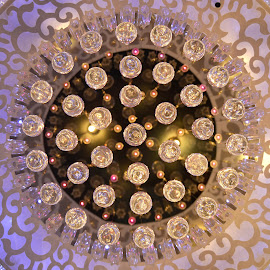 Lampshade Flower...!!! by Arafath Shanas - Buildings & Architecture Other Interior ( lamps, chandelier, arafath shanas, lamp shade, symmetrical design, lamp )