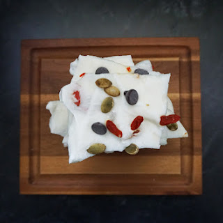 Goji Berry And Pumpkin Seed Greek Yogurt Bark