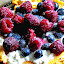 OMELETTE WITH FRUITS by Wojtylak Maria - Food & Drink Plated Food ( dish, tasty, food, fruits, blueberries, raspberries, omelette )