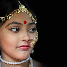 The Girl by Udaybhanu Sarkar - Babies & Children Child Portraits ( child, girl, baby, close up, portrait )