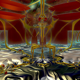 The Flooding Station by Rick Eskridge - Illustration Sci Fi & Fantasy ( fantasy, jwildfire, mb3d, fractal, twisted brush )