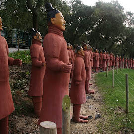 Warriors by Carlos Narciso - City,  Street & Park  City Parks ( budha, statues, chinese warriors, portugal, garden )