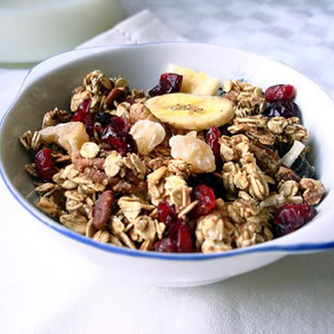 Homemade Low-Fat Tropical Granola