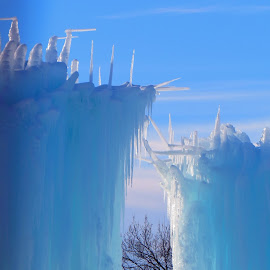 by Pamela Zeng - Digital Art Things ( ice castle! )