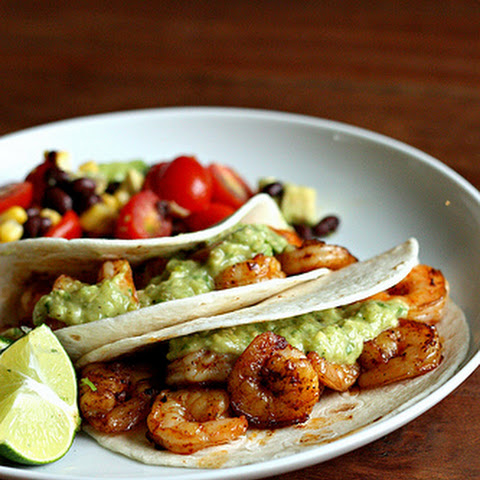 Shrimp Tacos with Avocado Salsa Verde