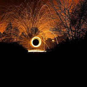 gravely dangerous by Damien Brearley - Abstract Fire & Fireworks ( swat photography, circles, spinning, steel, wool, fire )