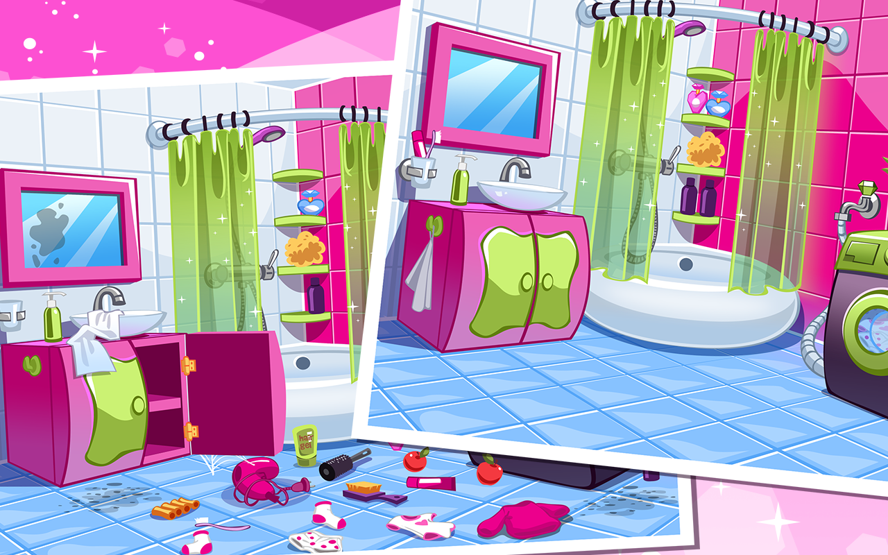 Doll House Cleaning Game Princess Room Screenshot