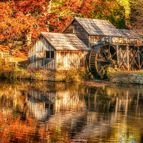 Mabry Mill  by Ernie Page - Buildings & Architecture Public & Historical ( mill, buildings, mabry mill, blueridge parkway, old building,  )