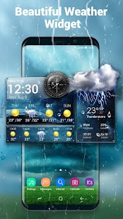Daily & Hourly Weather Clock Widget screenshot for Android