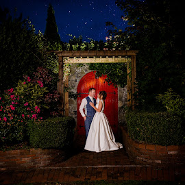 Starry night by Paul Duane - Wedding Bride & Groom ( love, wedding photography, married, red, night, bride, groom )