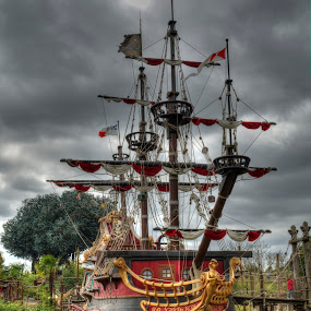 Pirates by Damian Allison - City,  Street & Park  Amusement Parks ( pirates, ship )