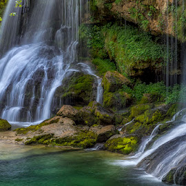 Waterfall Virje by Jaro Miščevič - Landscapes Waterscapes ( blue, green, beautiful, waterfall, colours, river )