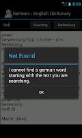 Screenshot of English - Deutsch Dictionary