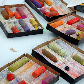It is art... for arts sakes! by Bill Foreman - Artistic Objects Other Objects ( chalk, colors, art )
