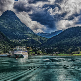 End of the Fjord by Richard Michael Lingo - Landscapes Mountains & Hills ( mountains, waterscape, landscape, fjord, norway,  )