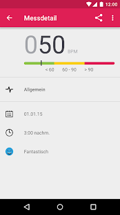 Runtastic Heart Rate Pulsmesser Screenshot