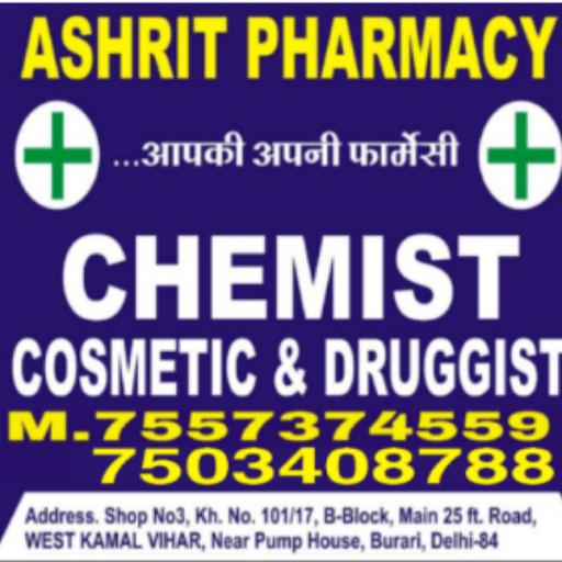 Ashrit Pharmacy, Sant Nagar, Sant Nagar logo