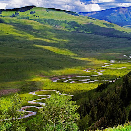 Four new images added. This valley is at Crested Butte, CO by Susan Byrd - Landscapes Prairies, Meadows & Fields