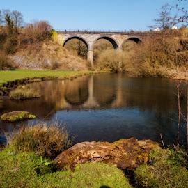 Monsal Viaduct, Peak District by Scott Anderson - Landscapes Travel ( monsal, wye, train, monsal viaduct, river, derbyshire, peak district. )