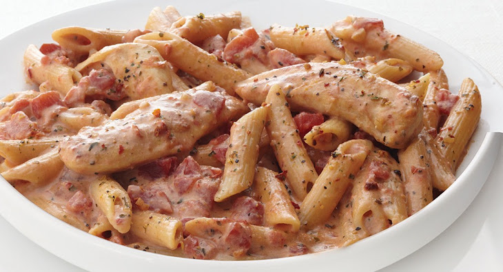 Creamy Parmesan & Sun-Dried Tomato Chicken Penne Recipe | Yummly