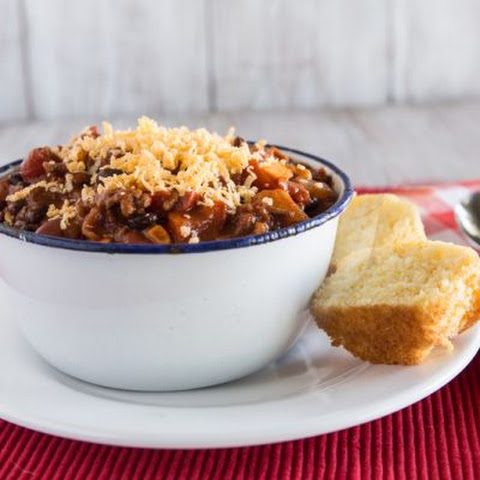 Three Chile Chunky Crockpot Chili
