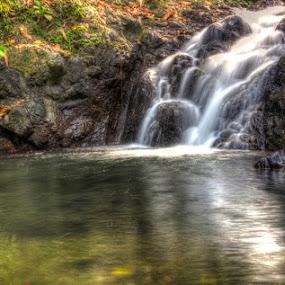 waterfll paku by Firmansyah Goma - Nature Up Close Water ( waterfall, bolaang mongondow utara, bolmut, desa paku,  )