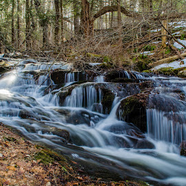 Stokes Water Fall #2 by Al Koop - Landscapes Waterscapes ( stokes state forest, flatbrook,  )